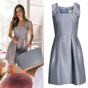 GAL MEETS GLAM Cosette Jacquard Fit & Flare Dress